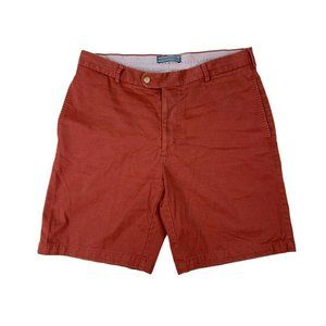 Peter Millar Mens Casual Red Chino Shorts Size 35